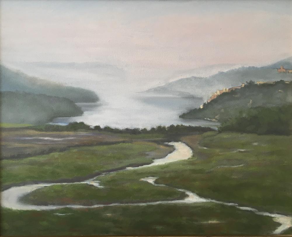 Boscobel Morning • 12 x 16 • oil on canvas