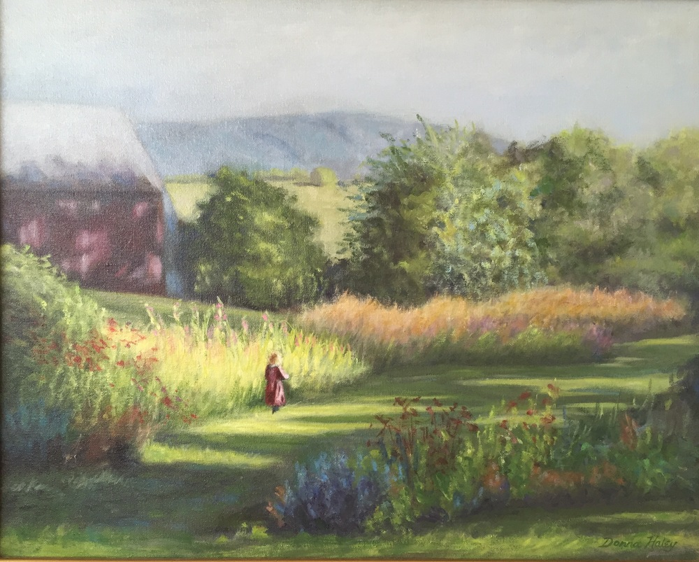 Sarah's Garden • 16 x 20 • oil on canvas