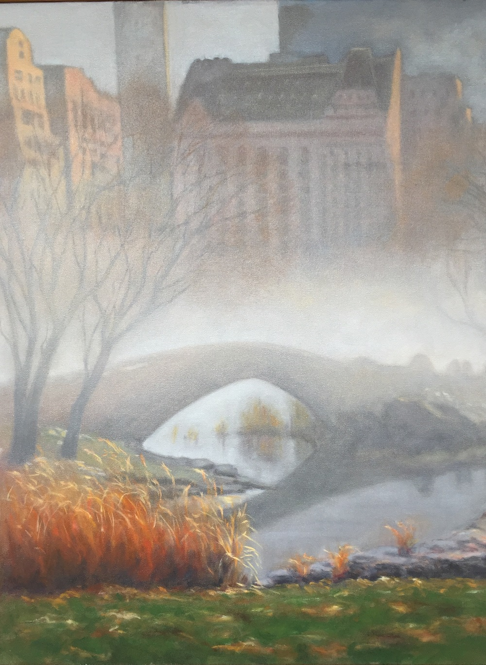 Central Park Morning • 22 x 28 • oil on canvas
