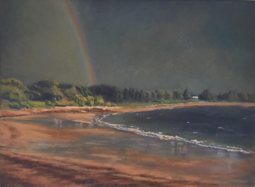 Gloucester Rainbow • 18 x 24 • oil on canvas