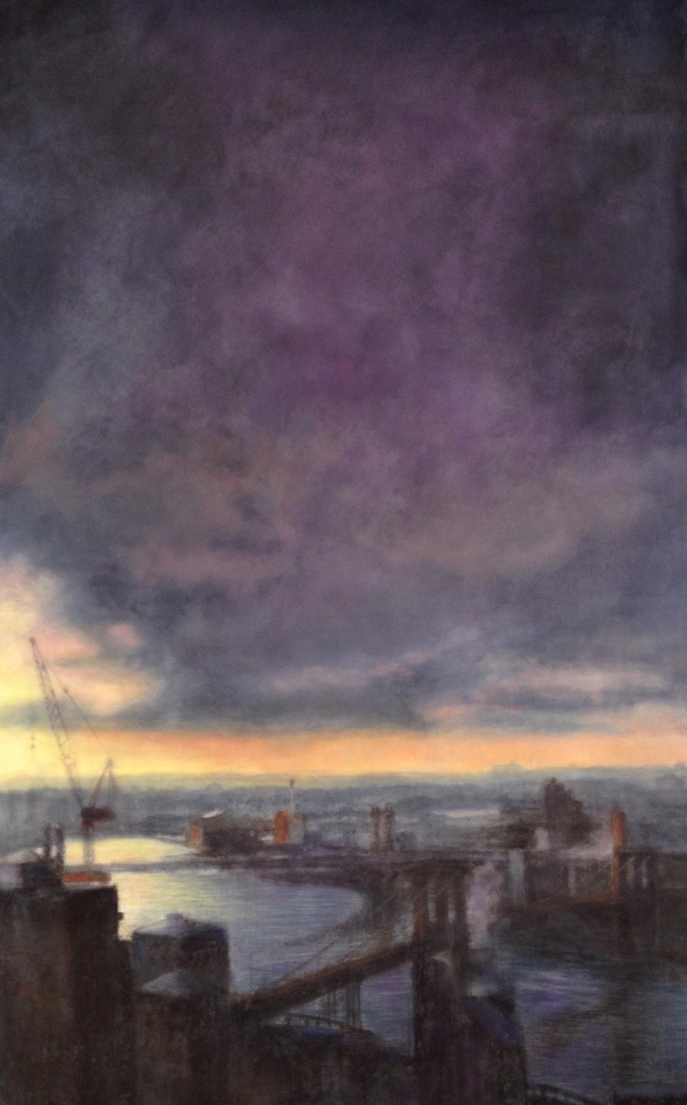 Morning Crane • 52 x 83