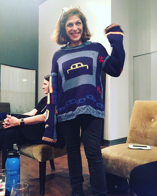 Looking good in Your OliverTwist sweater! See you next time! #olivertwistsweater #kristopherenuke #designedinla #sweater #handknit #vintage