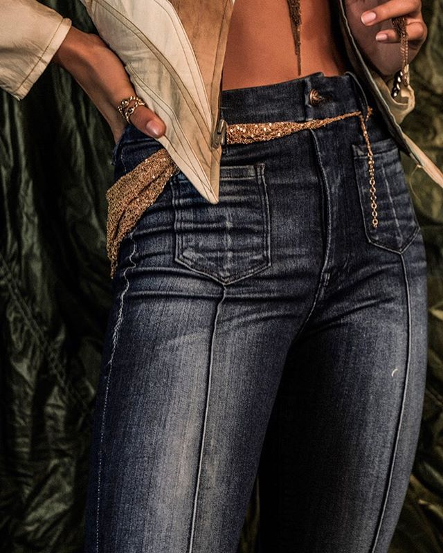 Mistress Jean, pin-tuck detail @churchboutique photo by @candytman  _____________________ #details #denim #highenddenim #lamade #losangeles #madeinusa #churchboutique #mathieubitton #kristopherenuke