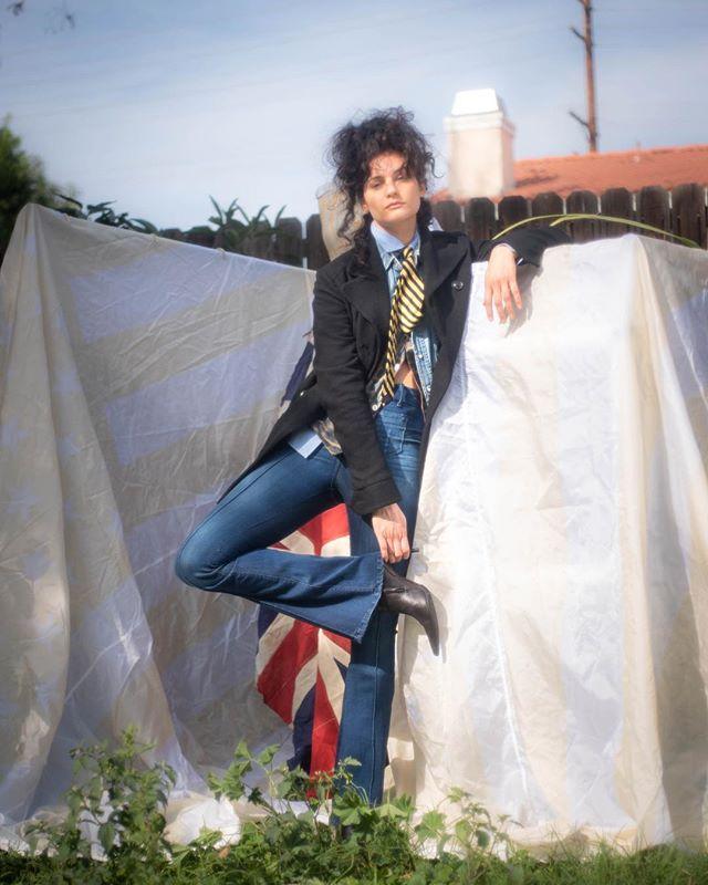 Public school  Mistress jean flare, KristopherEnuke Peacoat,  #losangelesdesigner #losangelesdenim #madeinlosangeles #denimfit #madeinusa #fashionstory  Model: @danielleargyros  MakeUp: Daina Sher 📷photo: @annahstasia