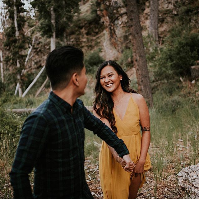 Loved exploring the forest with these two! 🌲 Their wedding is getting so close, and I can't wait! 🤓