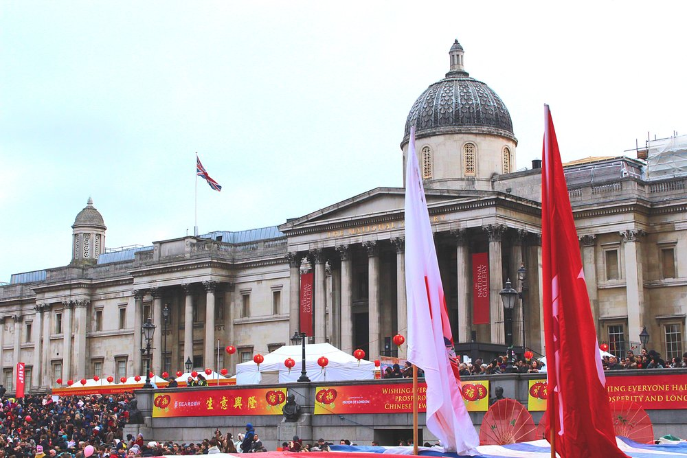 Trafalgar Square on Chinese New Year
