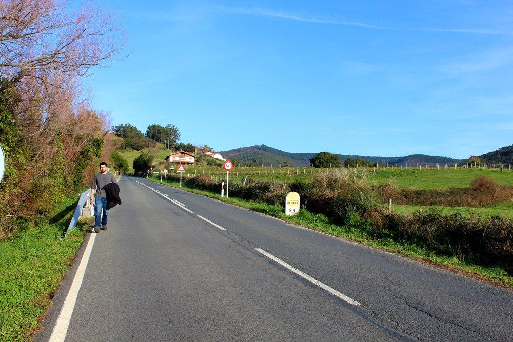 Walking towards San Juan de Gaztelugatxe