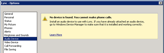 Lync VMs and Virtual Audio Cable — Confused Amused