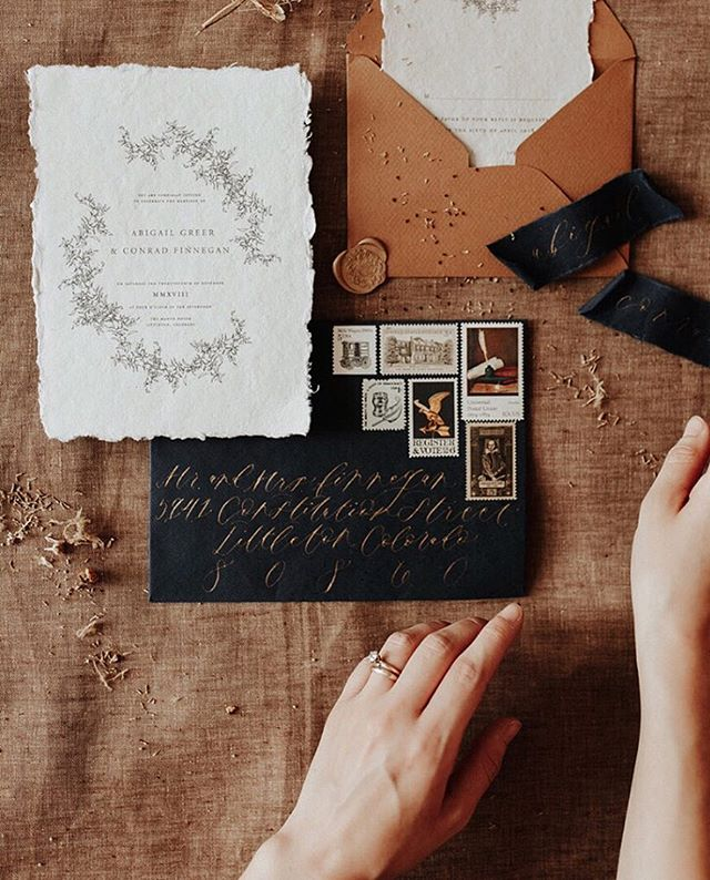Happy Thursday! A little flatlay to show off our Colorado suite, one of my favorites and a current design on my desk being fully customized for one of our summer brides! Handmade paper,delicate illustration, rose gold calligraphy, and vintage postage✨👌🏻 it doesn't get any better than that!😍 . . . . #flatlaythursday #seekpaperco #styledyouworkshop #italianretreat #communityovercompetition #creativecommunity #stopcomparingstartcreating #creativeworkshop #creativeretreat #stylingworkshop #weddingstationery #stationer  #calligrapher #styledshoot #thatsdarling #girlboss #girlsretreat #girlsweekend #darlingweekend #weddingplanner #weddingplannerworkshop #flatlaystyling #weddingstyling #propstyling #risingtidesociety #abmlifeiscolorful #abmlifeisbeautiful #creativepreneur #bossbabe #createandcultivate