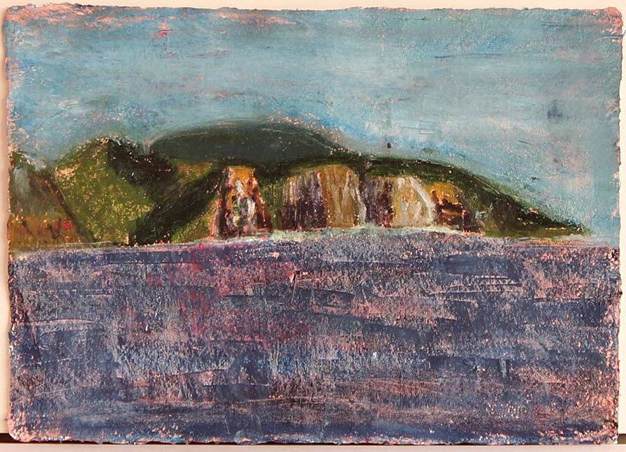 EDITH PERRENOT 'On the way to Fortescue' 2015, pastel and acrylic on paper, 21 x 29.7 cm