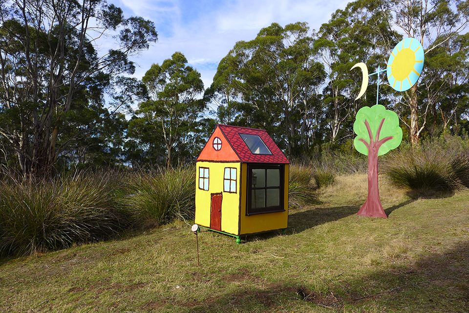 'Flowers grow in warm places' view exhibited at Art Farm Birchs Bay sculpture trail, 2017