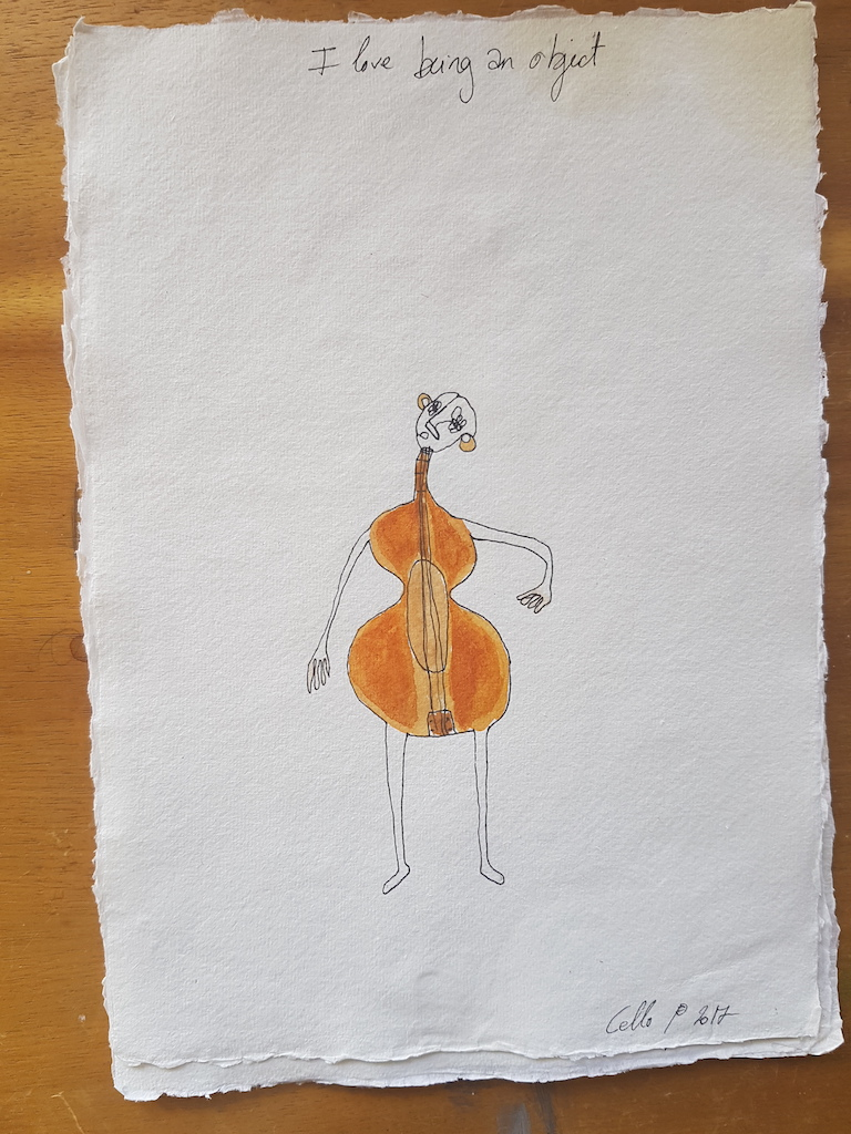 Edith Perrenot Cello, I love being an object serie, 2017, pen and watercolour in paper 29 x 21 cm WEB.jpeg