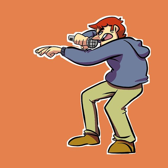 Don't know why I tried doing a rapper pose doodle. Just ended up like that?  #art #digitalart #illustration #doodle