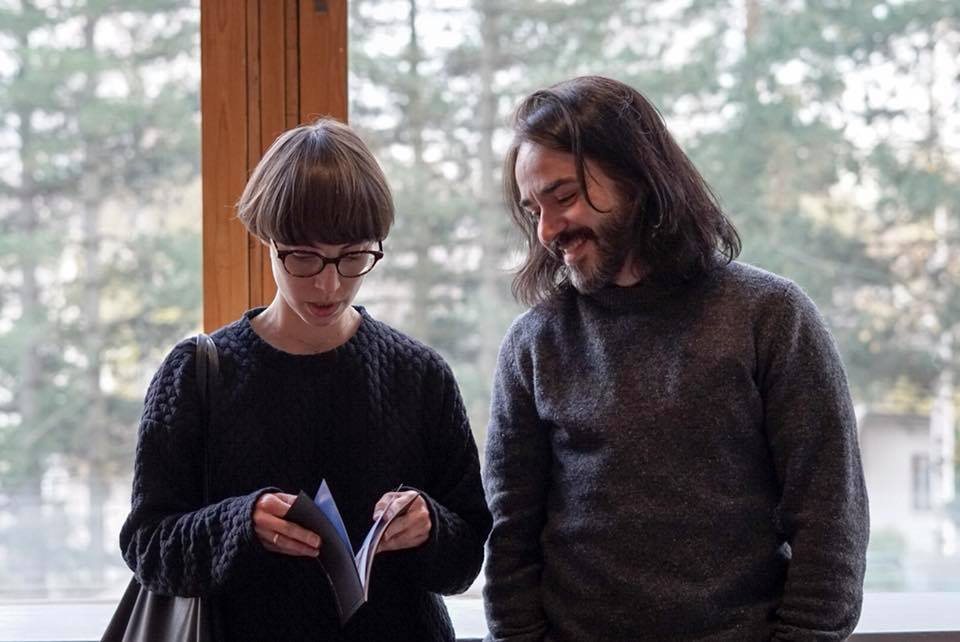 Students Nathalia Mussi and Andre Vicentini. Image: David Lewis/ Aalto University.