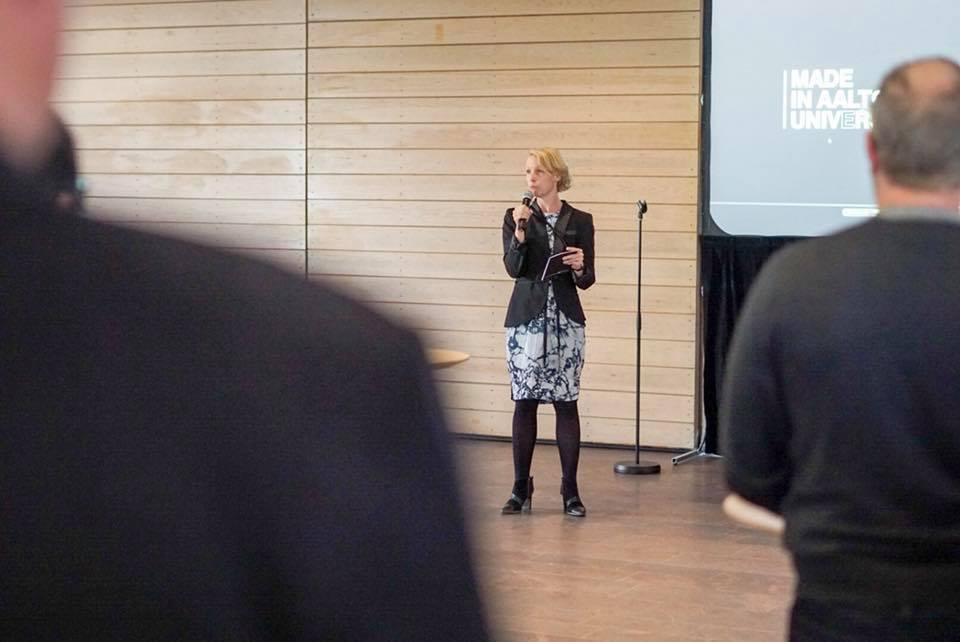 Vice-President Anna Valtonen. Image: David Lewis /Aalto University.