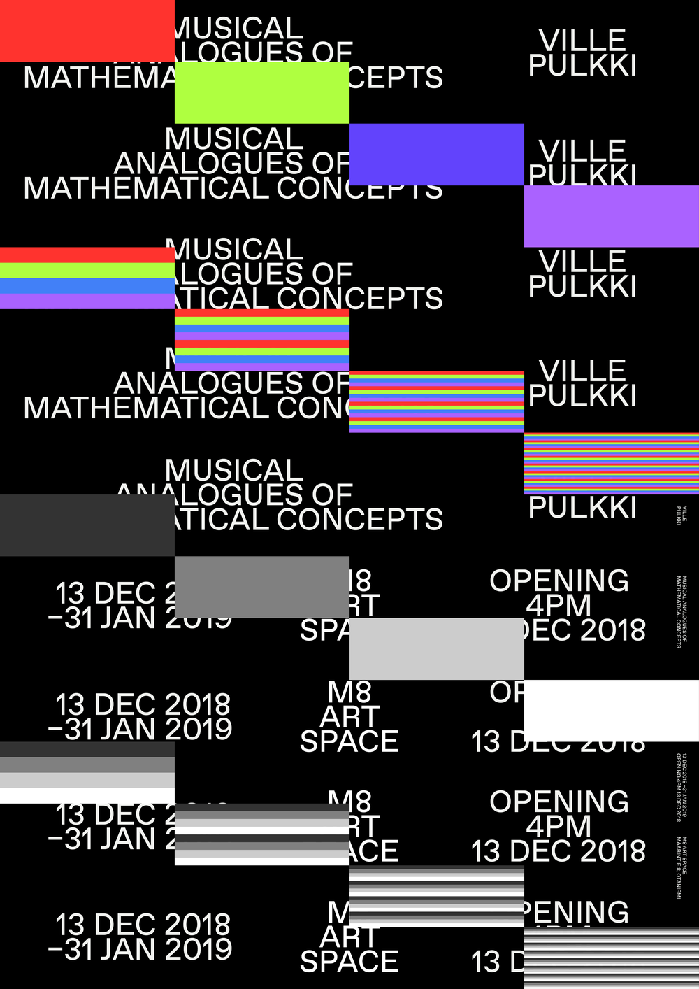 Musical Analogues of Mathematical Concepts Poster // Design: Joosung Kang