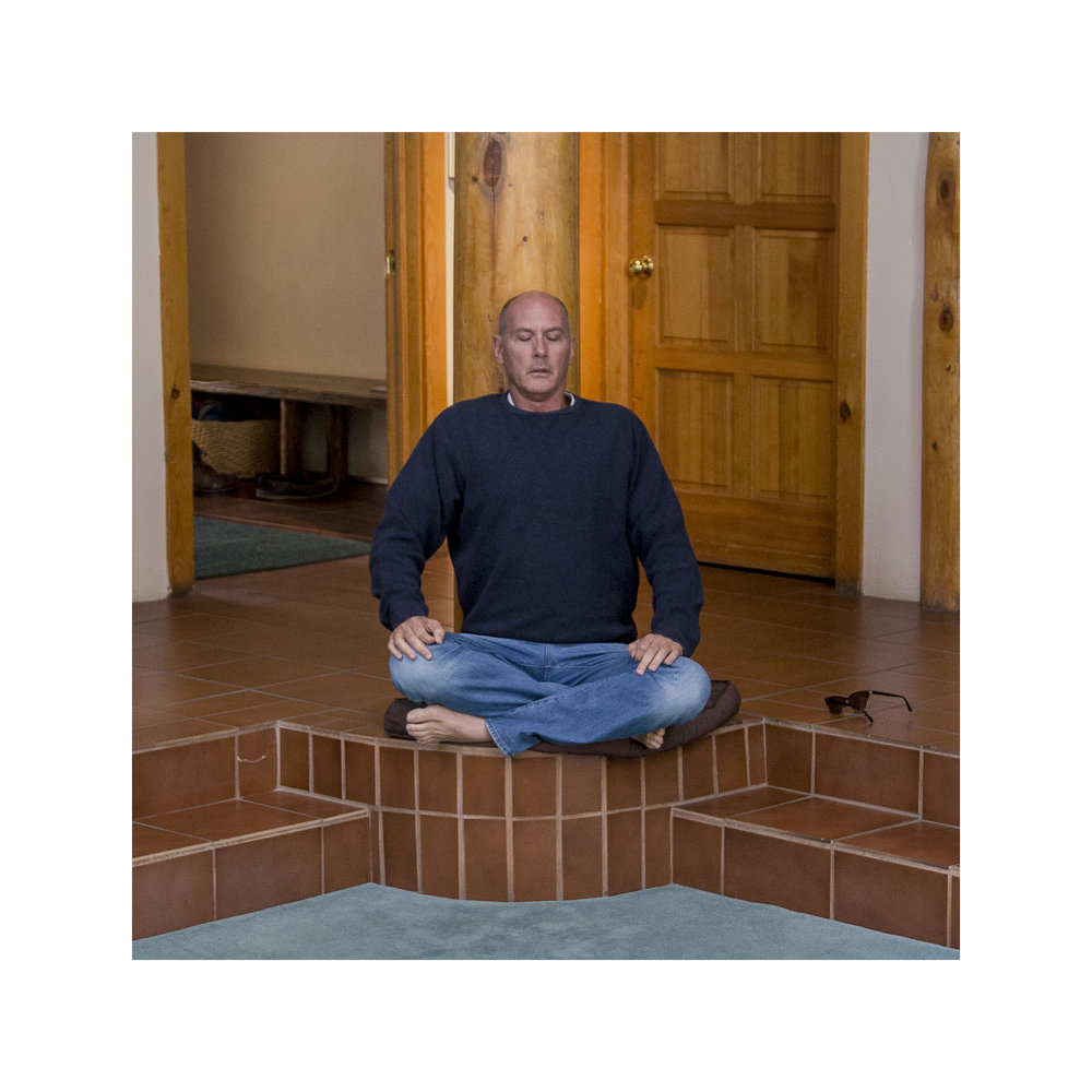 Scott, a real estate agent from Texas who has a second home in Crestone, meditates in the Carmelite monastery.