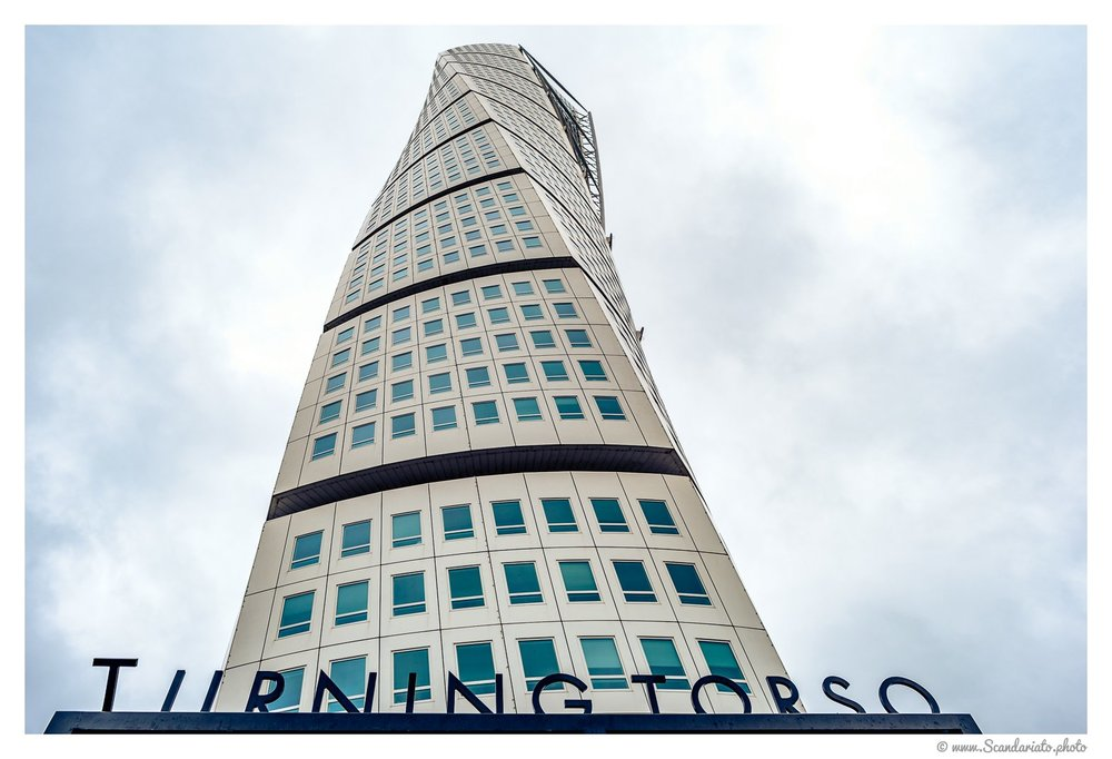 The Turning Torso. 24mm on full-frame. 1/100 sec, f/8, ISO 100.