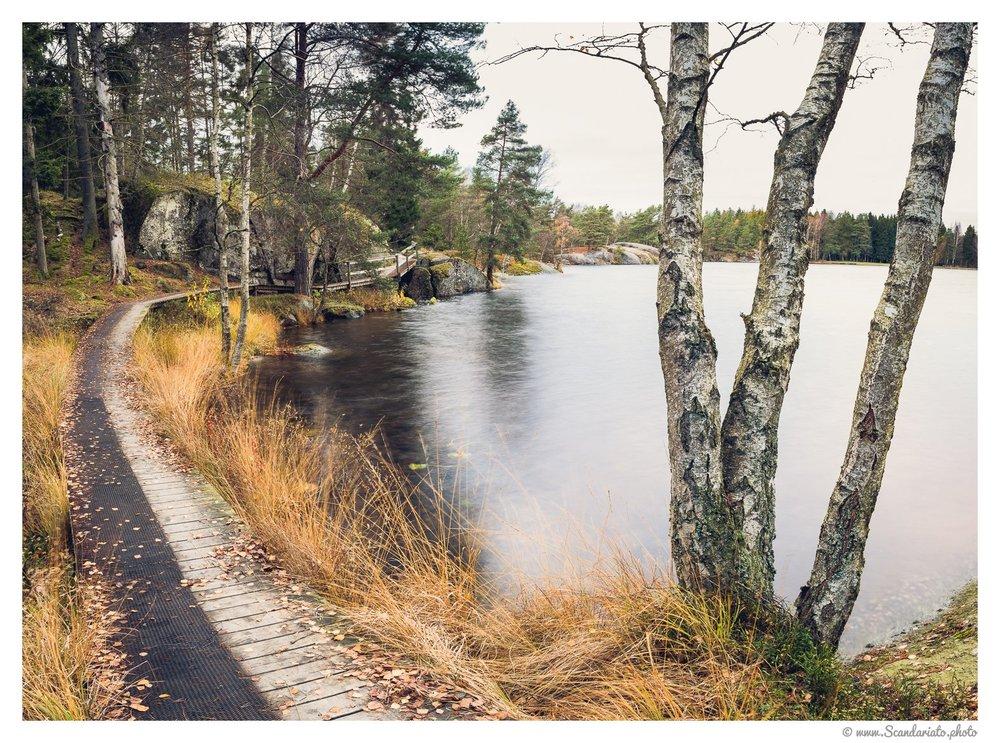 The lake shore. 24mm on a full-frame,2 sec, f/16, ISO 100