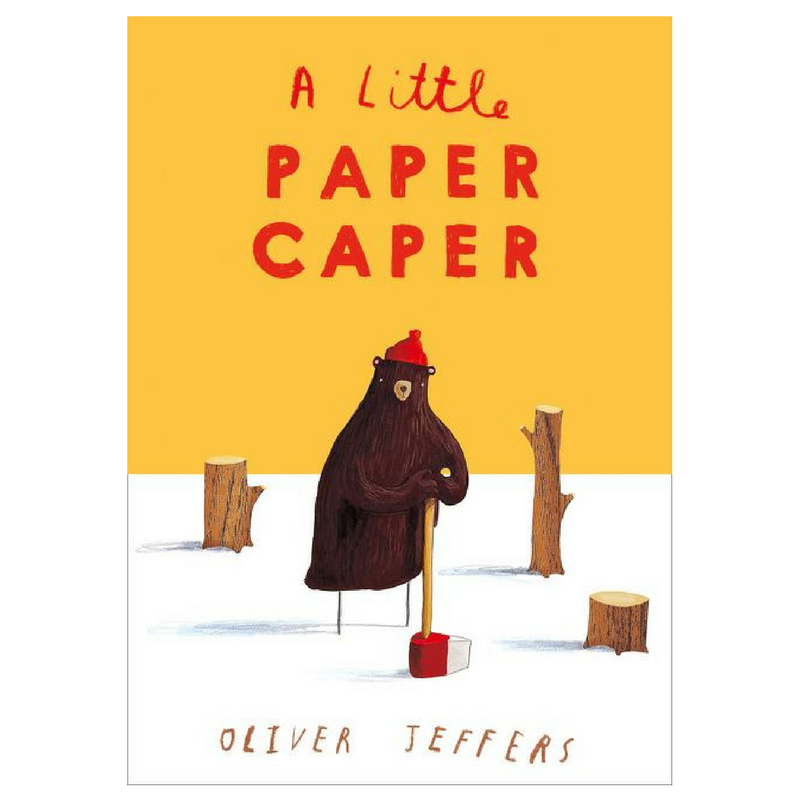 A thrilling tale of mystery, crime, a forest, paper planes and a bear who wanted to win. - 'A Little Paper Caper' By Oliver Jeffers.Buy Now