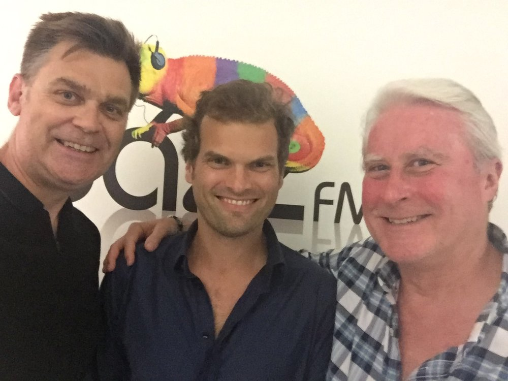 Jazz FM's Chris Philips, Andrew McCormack and Ubuntu Management Group's Martin Hummel