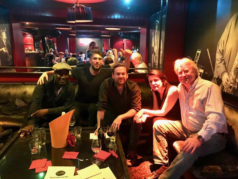 Left to Right: Tony Kofi, Matt Roberts, Quentin Collins, Alina Bzhezhinska, Martin Hummel.