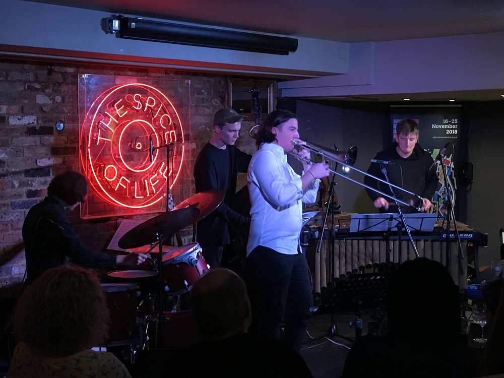 Rory Ingham Quartet, at Spice of Life, to kick off this year's London Jazz Festival.