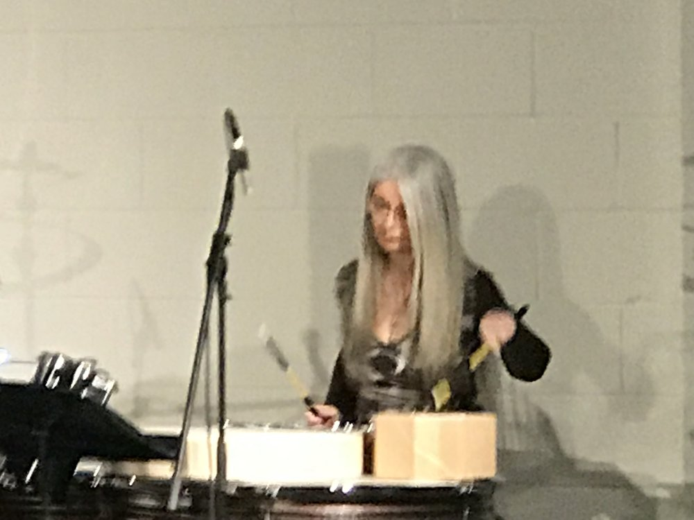 Dame Evelyn Glennie, with Trio HLK.