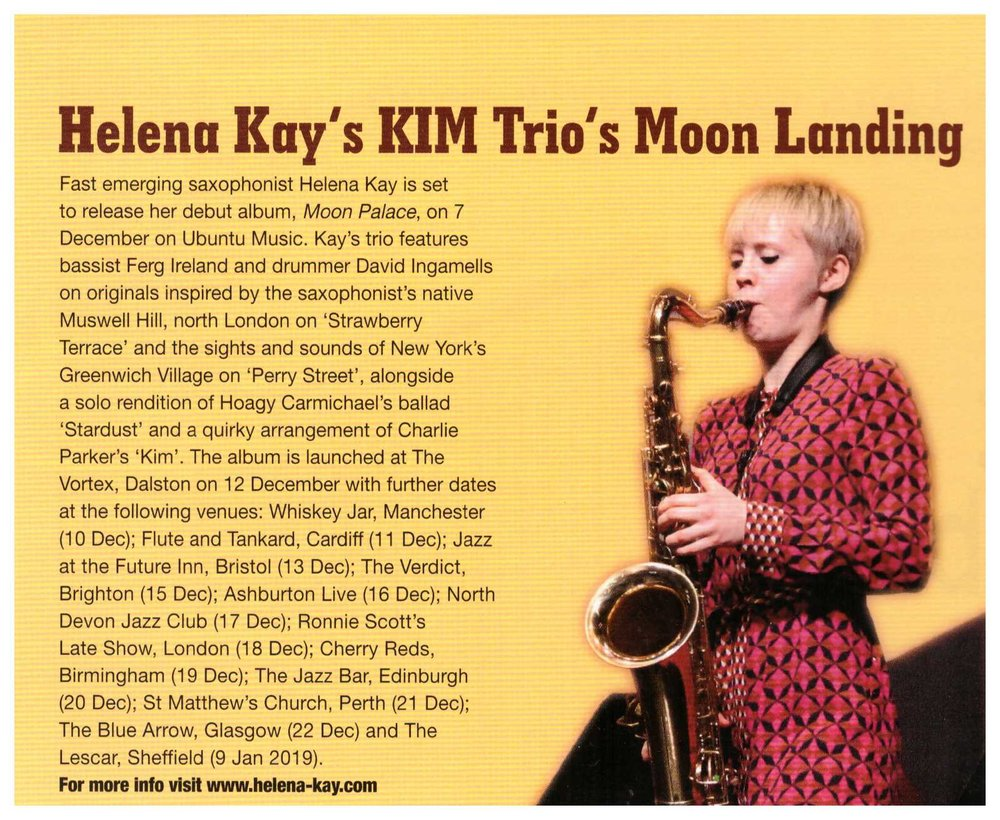 Helena Kay album release feature.