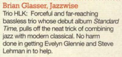 Brian Glasser chooses Trio HLK's album.