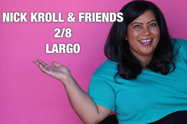 nbd just doing Nick Kroll & Friends at Largo next Friday, 2/8 with my new bff @nickkroll 🎟 @largolosangeles