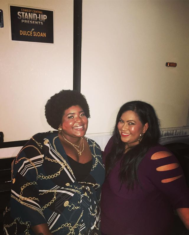 So damn proud of my comedy sister @dulcesloan 🖤 she just crushed her @comedycentral Half Hour & I cant wait for everyone to witness her devastating slayage 💜 love you mama