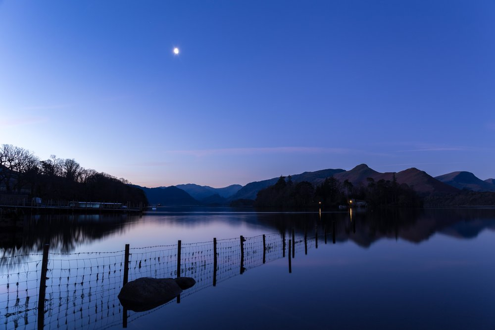 The early morning at Lake Derwentwater.