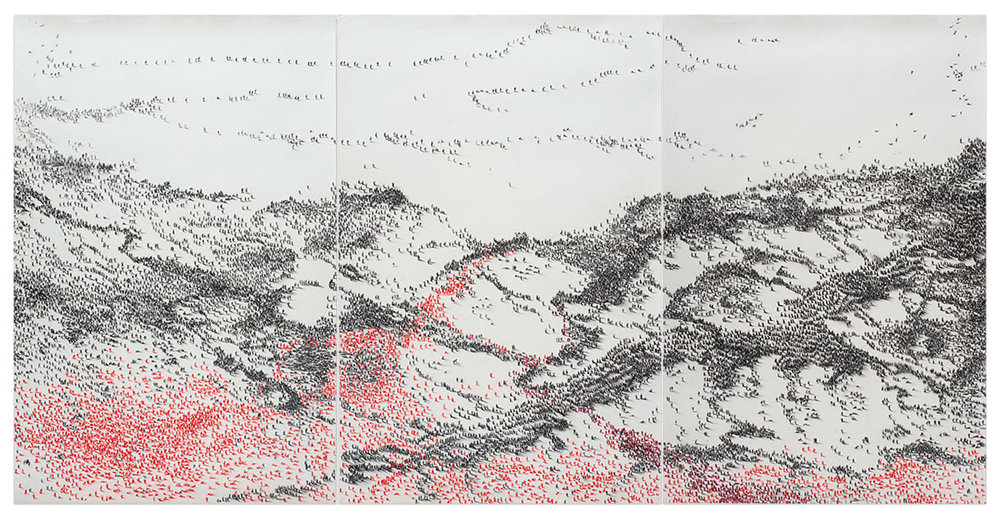 SONNETS FROM THE CRIMEA (2014)  Charcoal and Pastel on Paper, 160 x 120 cm, 2005—14