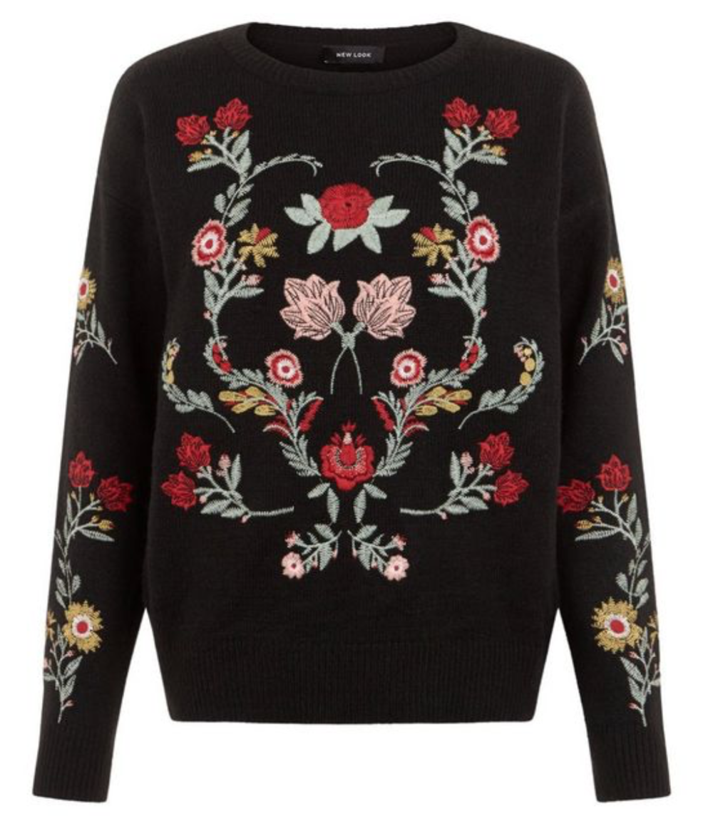 Embroidered Jumper - New Look