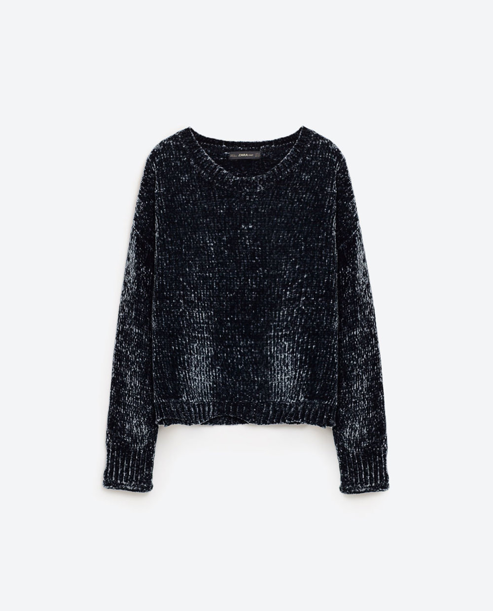 Cropped Round Neck Sweater - Zara