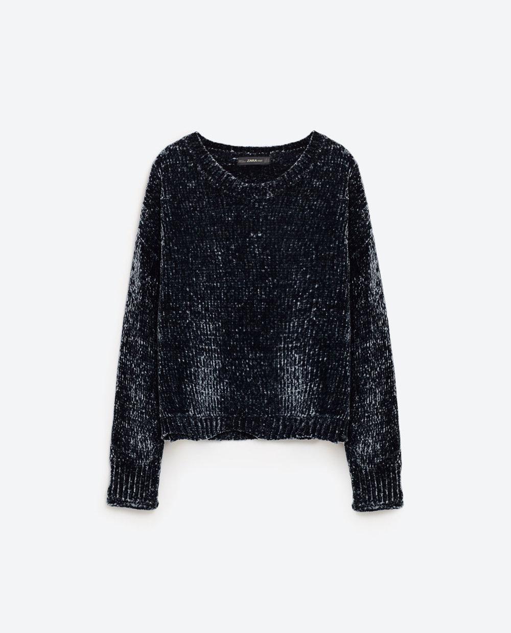 Cropped Round Neck Sweater - Zara