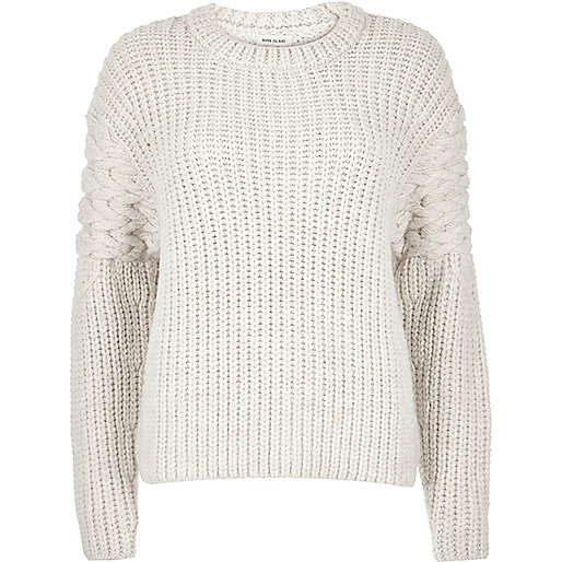 Chunky Cream Sweater - River Island