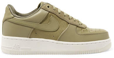 1 '07 Lx Suede-trimmed Leather Sneakers - Army green