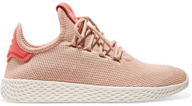 + Pharrell Williams Tennis Hu Stretch-knit Sneakers - Blush