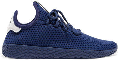 adidas Originals - + Pharrell Williams Tennis Hu Stretch-knit Sneakers - Royal blue