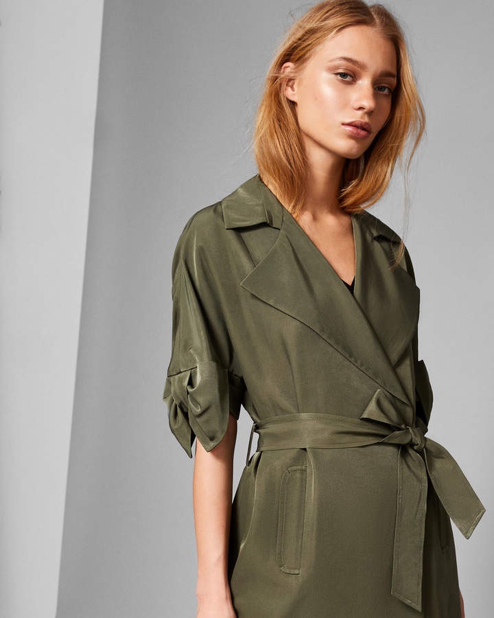 BIIBI Bow detail trench coat