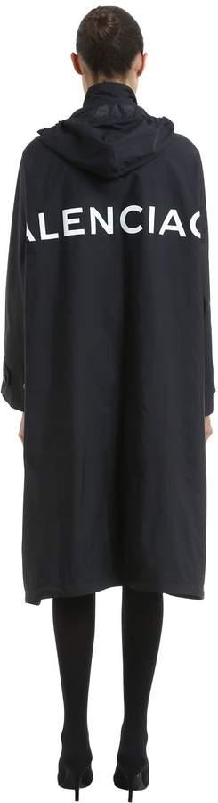 Balenciaga Oversized Logo Printed Raincoat