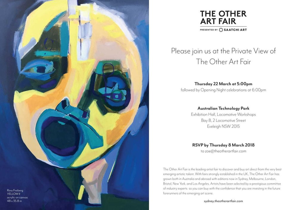The Other Art Fair Sydney VIP Invite - March 2018