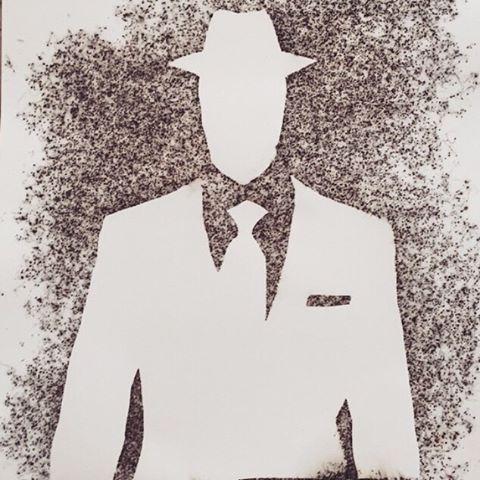 Smooth Criminal.  For sale. Link in bio.  #portland #maine #gunpowder #art #artist #fire #local #lovepoet #colors #canvas #sale #kennebunkport #maine #artsale #writer #write #human #love #gunpowderart #man #romance #paper #state #newyork #nyc #style #local