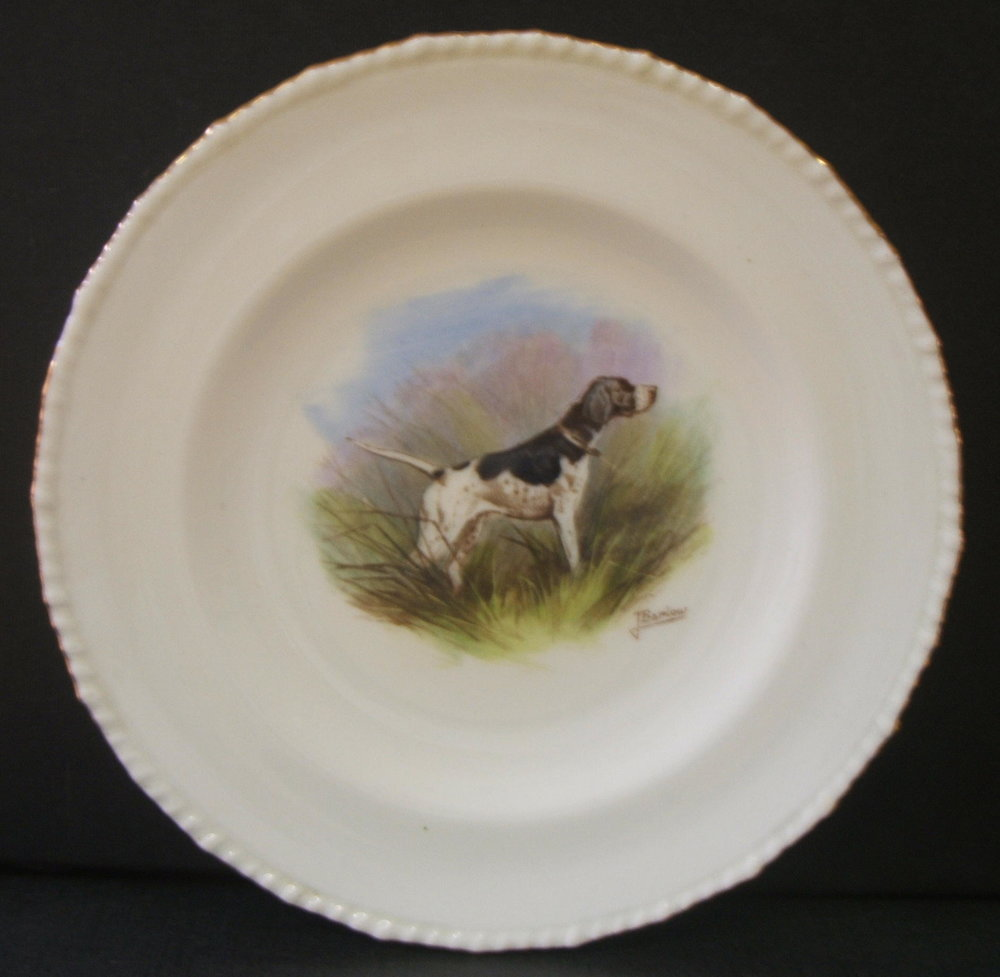 royal-crown-derby-stanhope-shape-plate-hunting-dog-j-barlow