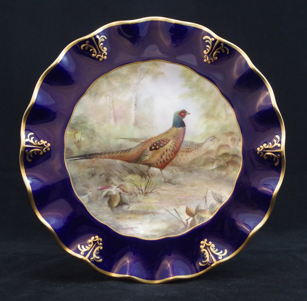 royal-crown-derby-clarence-cobalt-pheasant-t bramfitt