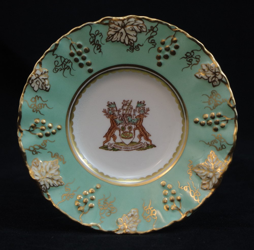 royal-crown-derby-coffee-saucer-vine-celadon-borough-of-derby-crest