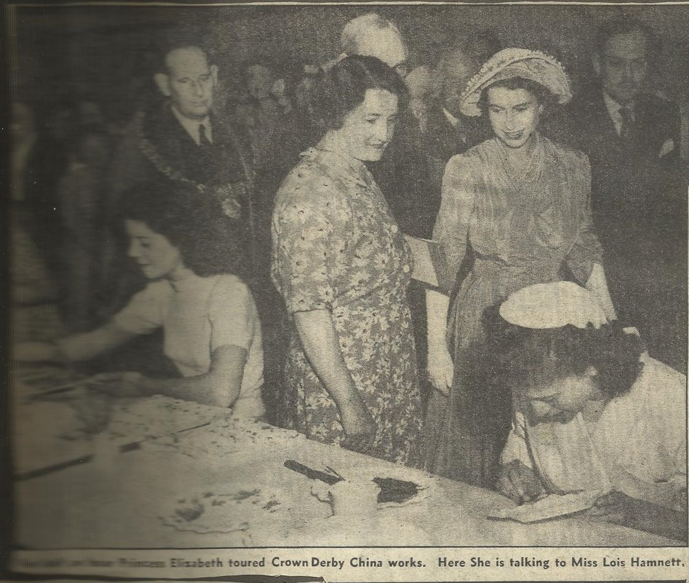 royal-crown-derby-factory-tour-princess-elizabeth-1949-miss-lois-hamnett
