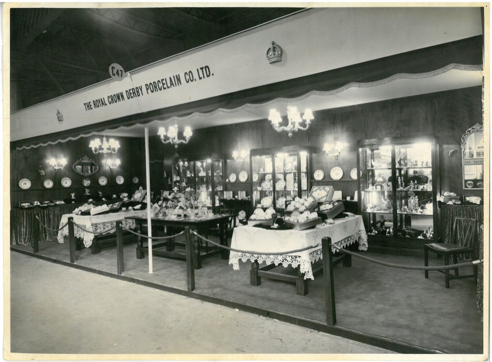 royal-crown-derby-trade-stand-british-industries-fair-1955